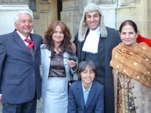 Ali Naseem Bajwa QC and Family